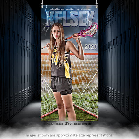 3x6 Amped Sports Banner - Breaking Ground Lacrosse
