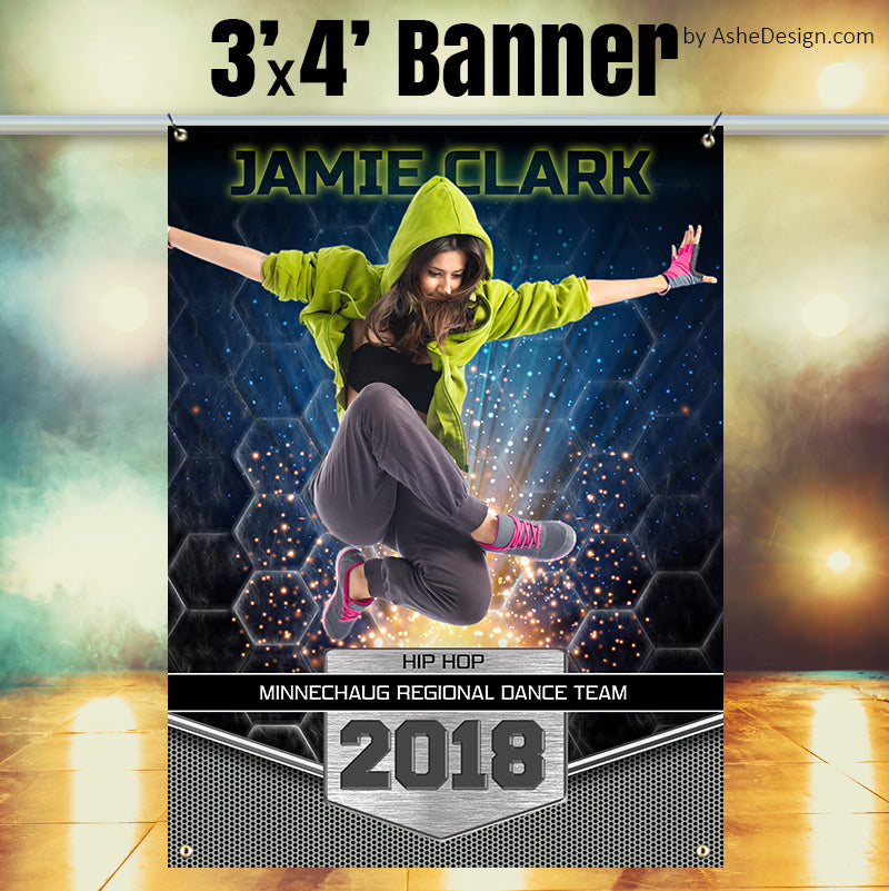 3x4 Amped Sports Banner Photoshop Templates Great Balls Of Fire Dance Ashedesign