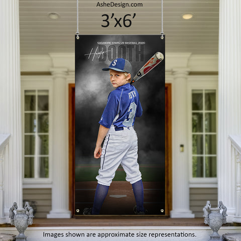 3x6 Amped Sports Banner - In The Shadows Baseball