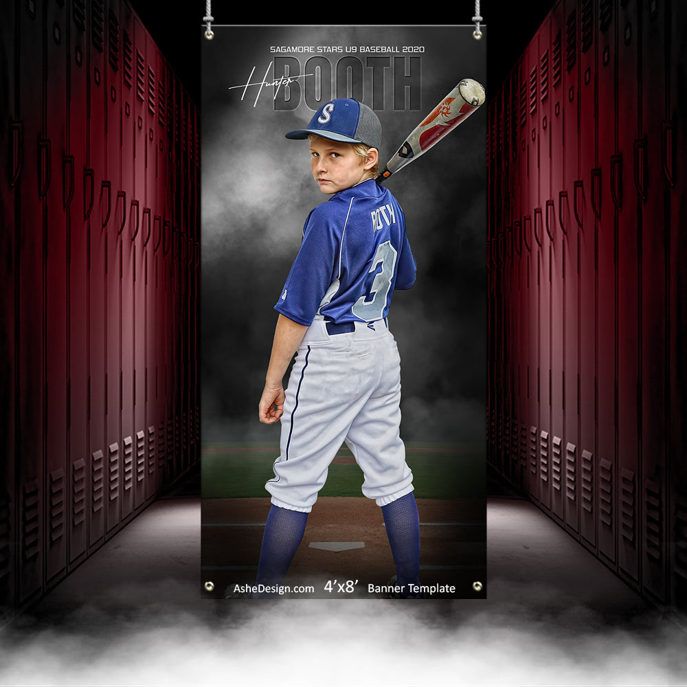 4x8 Amped Sports Banner - In The Shadows Baseball