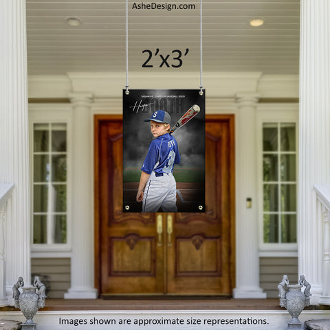 2x3 Amped Sports Banner - In The Shadows Baseball