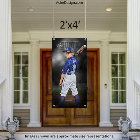 2x4 Amped Sports Banner - In The Shadows Baseball