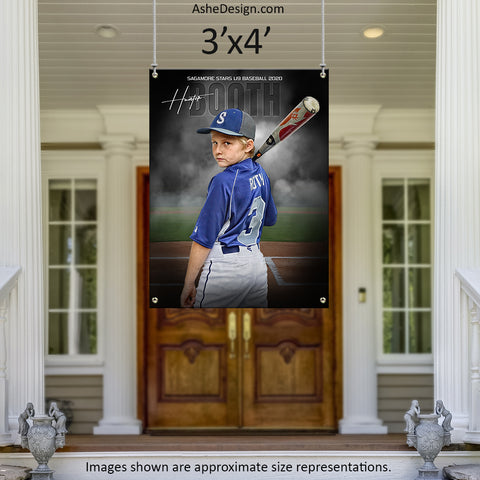 3x4 Amped Sports Banner - In The Shadows Baseball