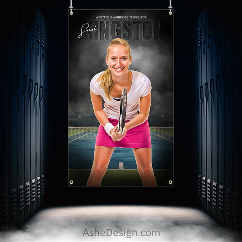 3x5 Amped Sports Banner - In The Shadows Tennis
