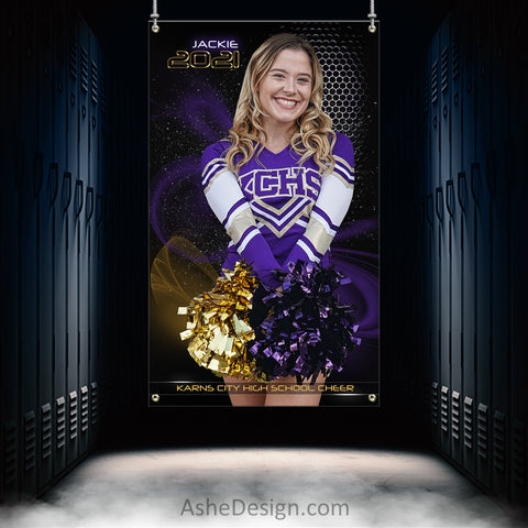 3x5 Amped Sports Banner - Screen Play