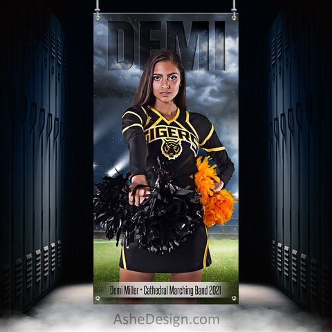 3x6 Amped Sports Banner - Stormy Lights Cheer
