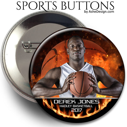 Sports Button - Backdraft Basketball