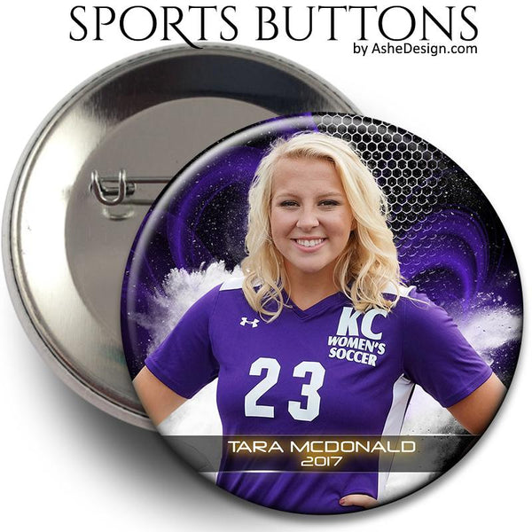 Ashe Design Sports Button Mockup - Example