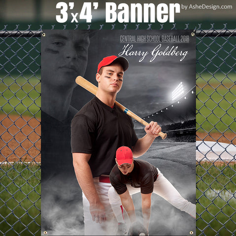 Ashe Design 3x4 Sports Banner - Dream Weaver Baseball