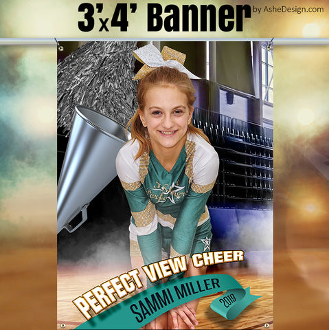 3'x4' Amped Sports Banner - Half Court Cheer