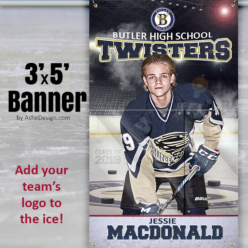 3x5 Amped Sports Banner - Team Branded Hockey