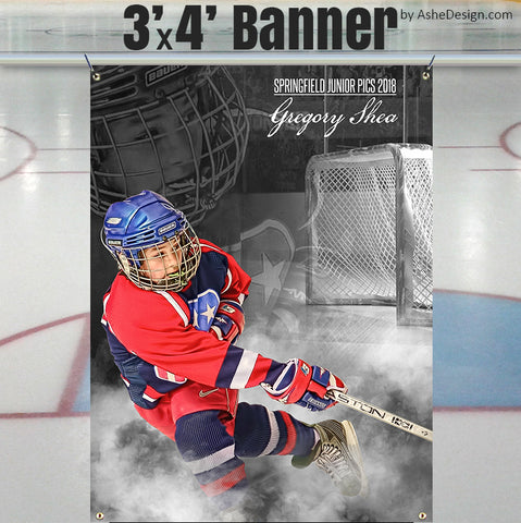 Ashe Design Stadium Sports Banner Hockey
