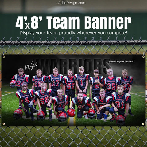 Amped Sports Banner 8'x4' - In The Shadows Football