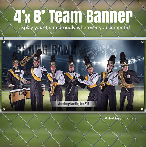 Ashe Design 4x8 Stadium Banner - Stormy Lights Marching Band