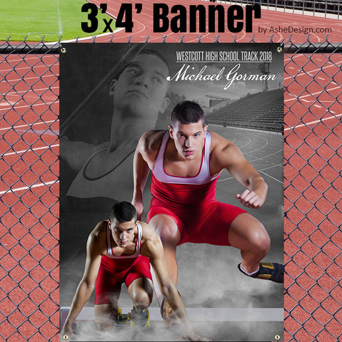 Ashe Design 3x4 Sports Banner - Dream Weaver Track