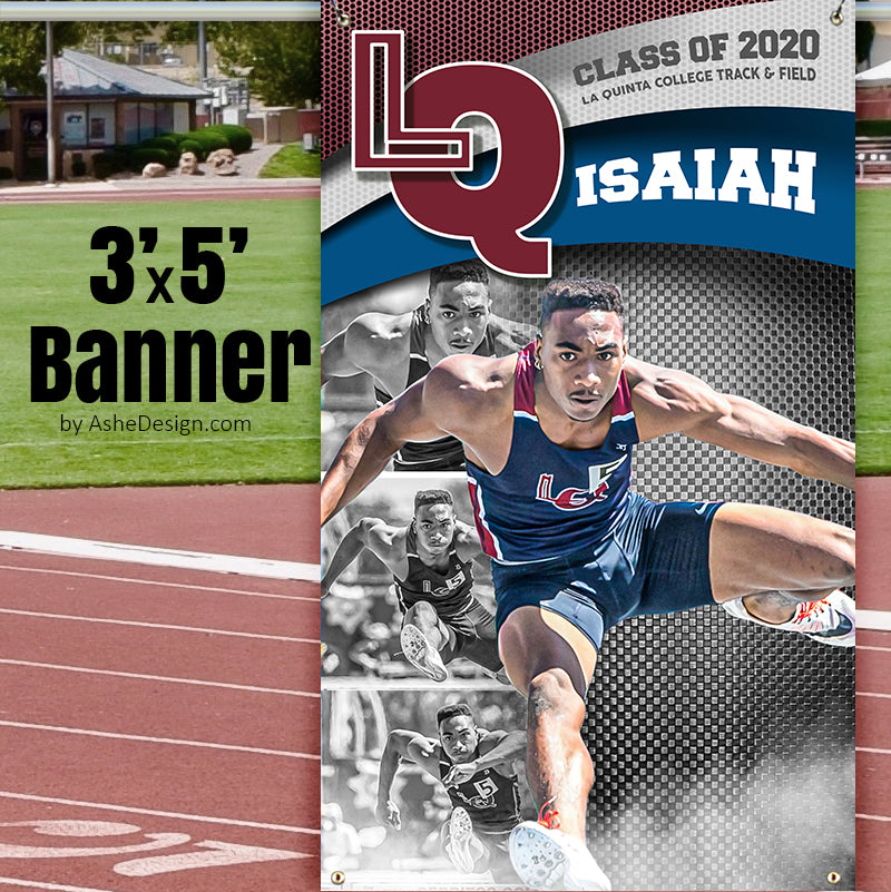 3x5 Amped Sports Banner - Triple Arch