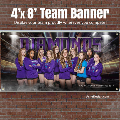Ashe Design 4'x8' Team Banner Photoshop Template Underground