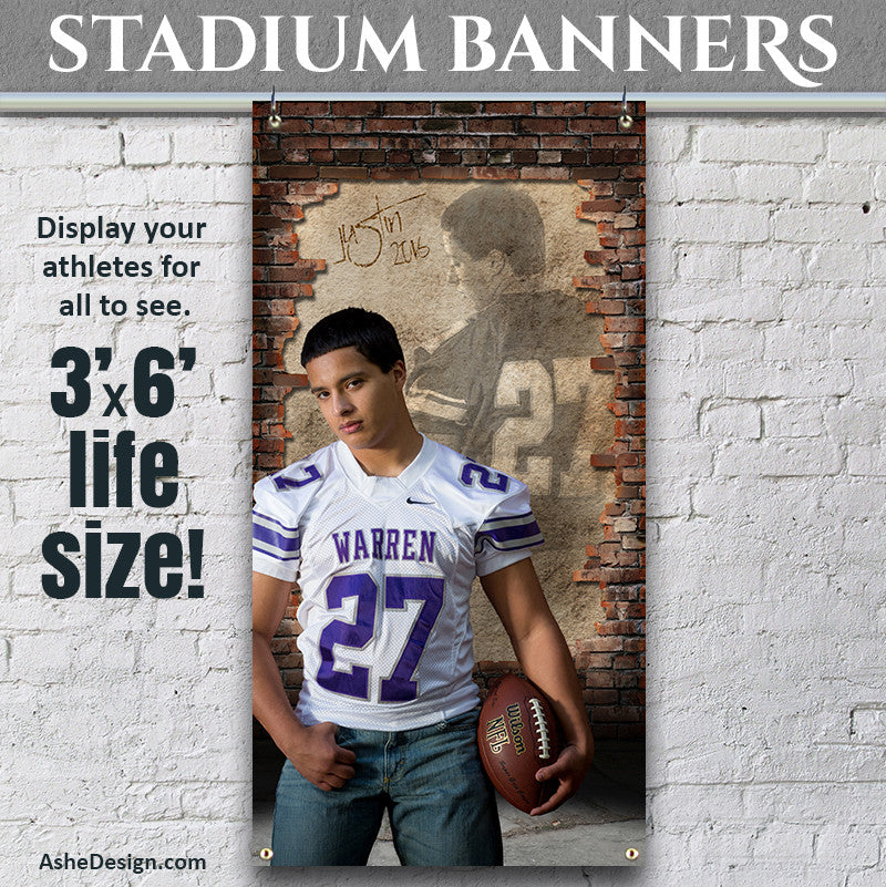 Amped Stadium Banner 3'x6' - Behind The Wall
