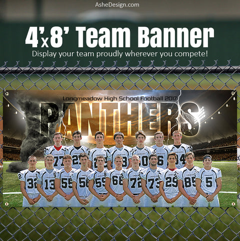 Amped Sports Team Banner 4'x8' - Tornado Alley Football