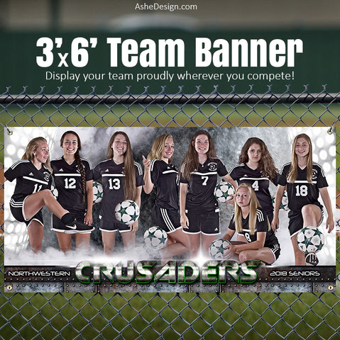 Amped Sports Team Banner 3'x6' - Armor