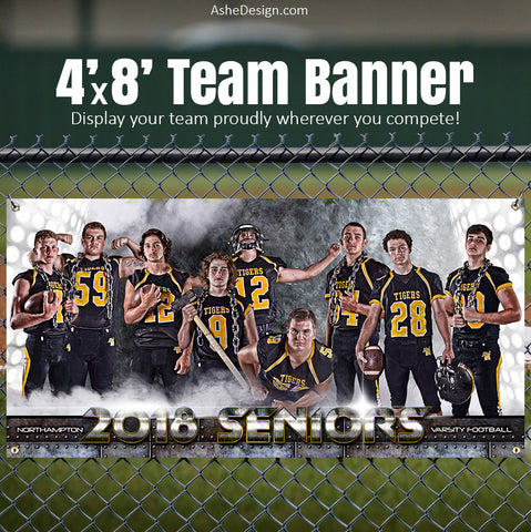 Amped Sports Team Banner 4'x8' - Armor