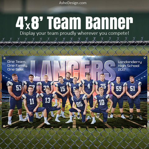 Amped Sports Team Banner 4'x8' - Breaking Ground Football