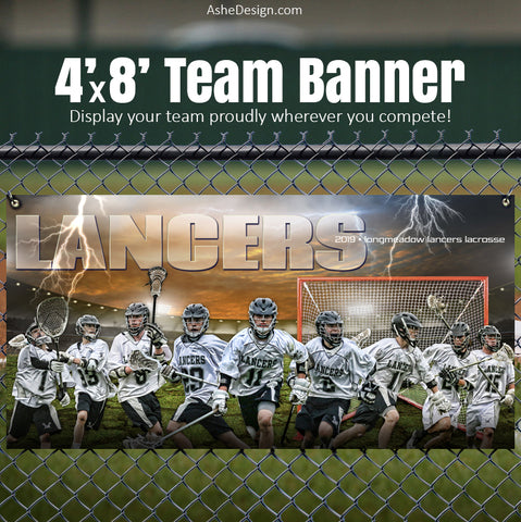 Ashe Design 4'x8' Team Banner - Breaking Ground Lacrosse