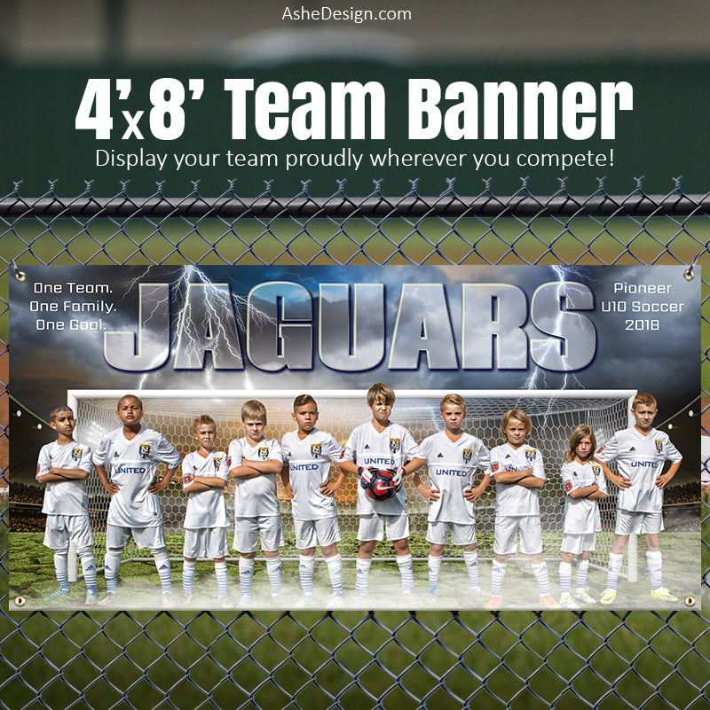 Sports Team Banner 4'x8' - Breaking Ground Soccer