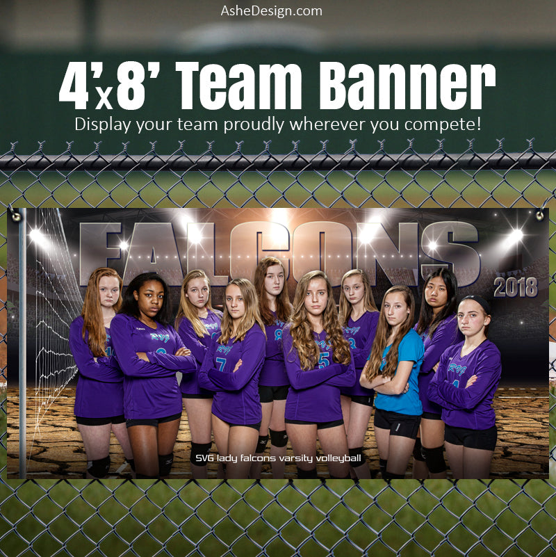 Ashe Design 4'x8' Team Banner - Breaking Ground Volleyball