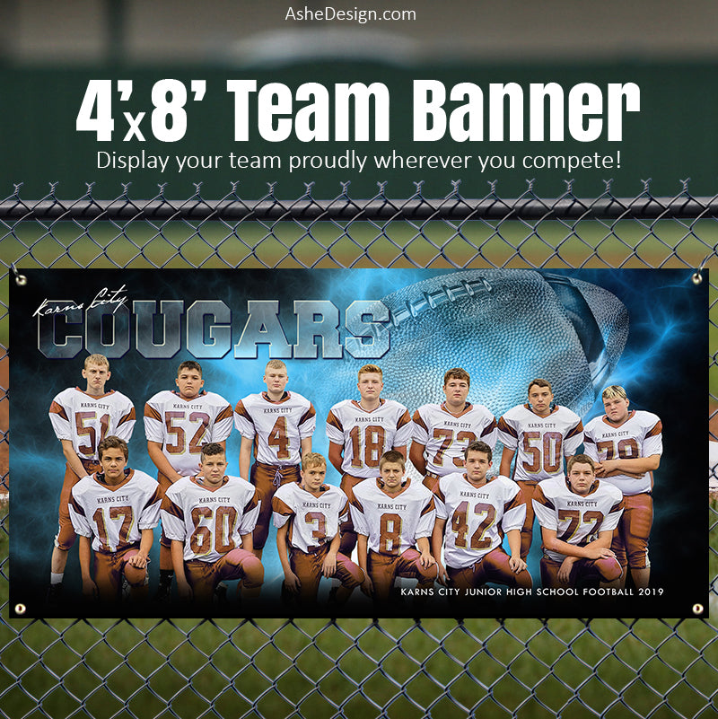 Amped Stadium Banner 8'x4' - Electric Explosion Football