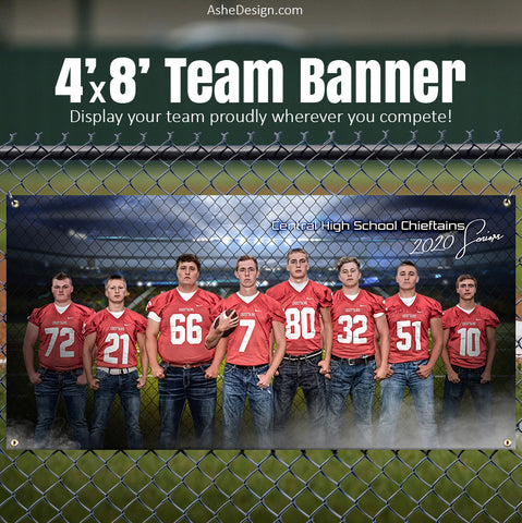 Amped Sports Banner 8'x4' - Fenced In Football