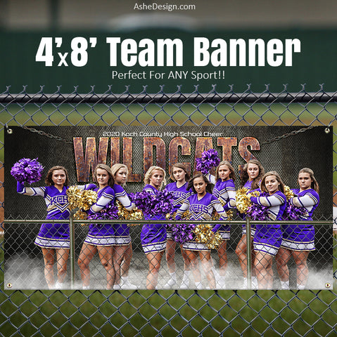 Amped Sports Banner 8'x4' - Fenced In
