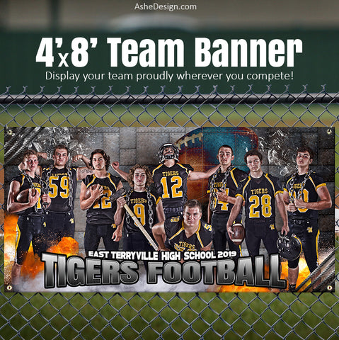 Amped Sports Banner 8'x4' - Molten Football