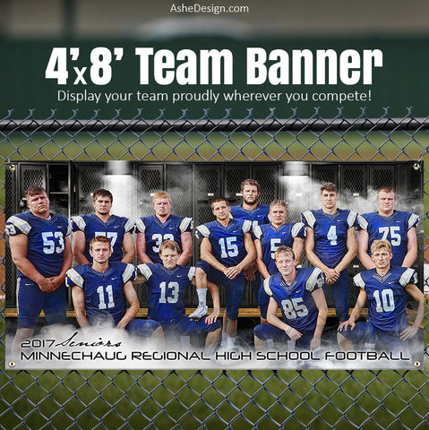 Amped Sports Team Banner 4'x8' - Suit Up Team