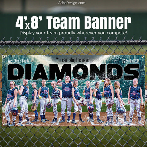Baseball Softball Team Sports Banner 4x8