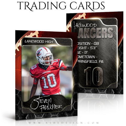 Ashe Design Sports Trading Cards - Honeycomb Football
