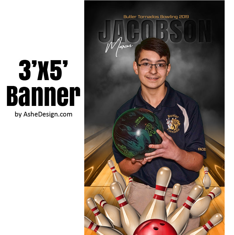 3x5 Amped Sports Banner - In The Shadows Bowling