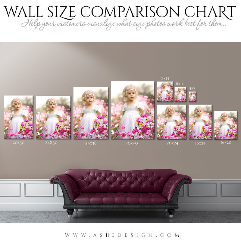 Ashe-Design - Wall Display Guide- Size Comparison Chart-Portrait