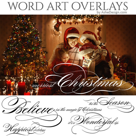 Word Art Overlays - Holiday Elegance