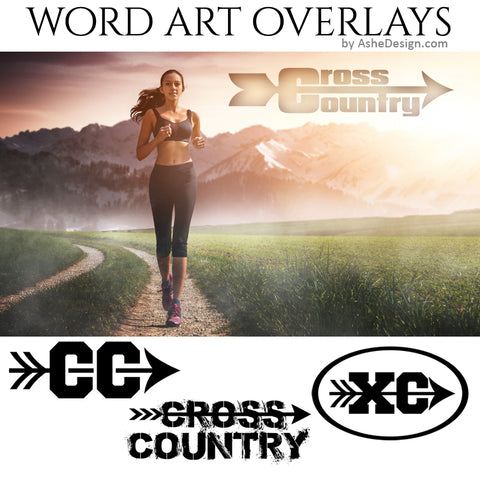Ashe Design Word Art Overlays - Cross Country
