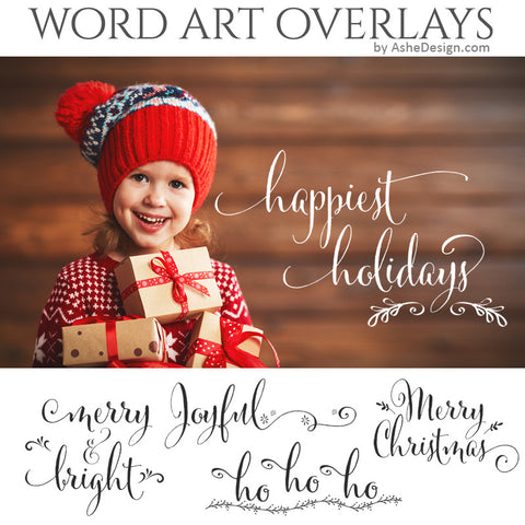 Christmas Word Art Set - Happiest Holidays