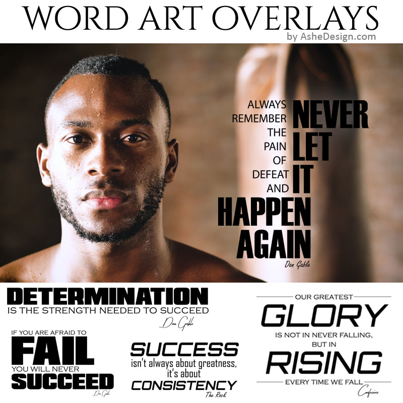 Ashe Design Word Art Overlays - Success Story