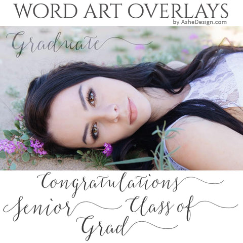 Ashe Design Word Art Overlays - The Graduate