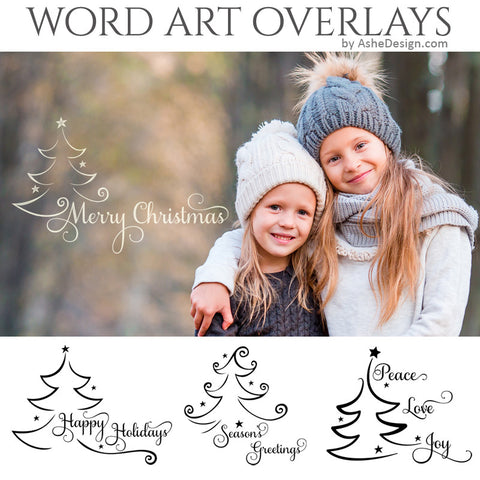 Christmas Word Art Set - Under The Christmas Tree