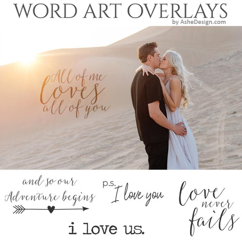 Ashe Design Word Art Overlays - I Love Us