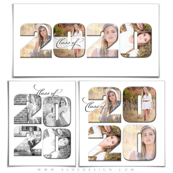 Word Collage Set (20x10,11x14,12x12) - Class Of 2020