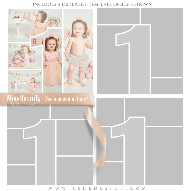 Ashe Design 12x12 Moodboards Instagram Blog First Birthday Baby's First Month