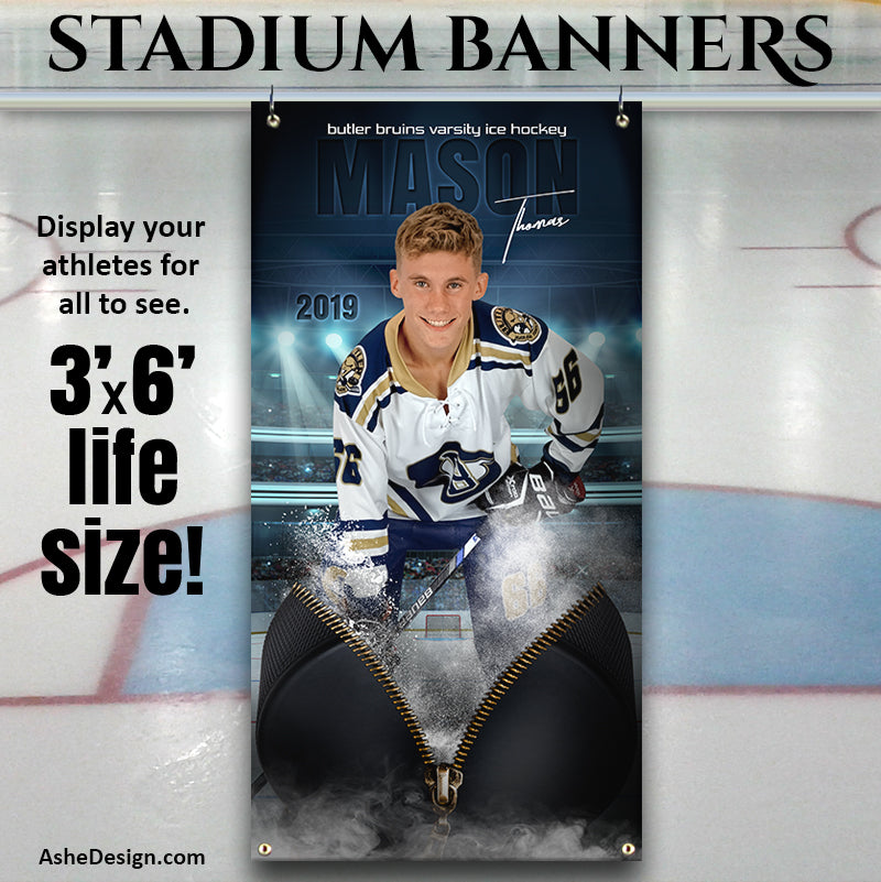 Amped Sports Banner 3'x6' - Unzipped Hockey