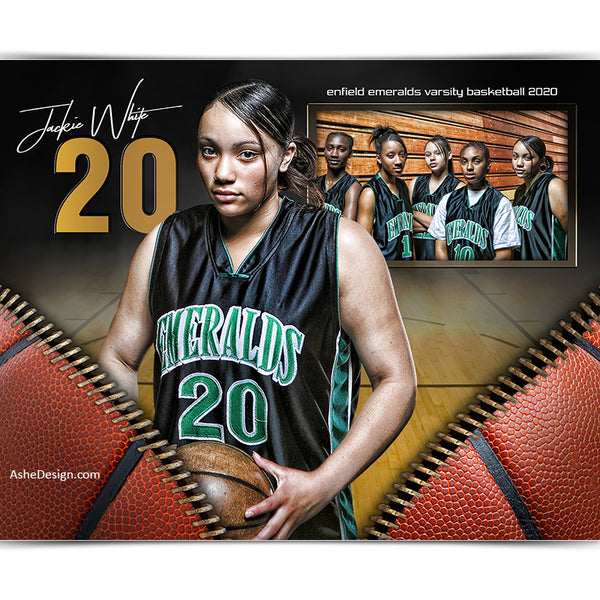 Sports Memory Mates 8x10 - Unzipped Basketball