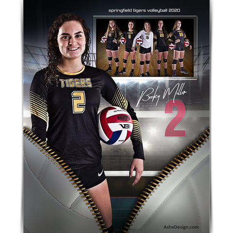 Sports Memory Mates 8x10 - Unzipped Volleyball